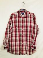 Pendleton Men's Western Shirt L Pearl Snap Long Sleeve Cotton Plaid EUC