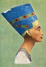 Ancienne carte postale d'art-Buste de la Pure Nefertiti