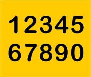 Selbstklebende Aufkleber Mülltonne Zahlen Startnummern Tür Hausnummer FOIL0110