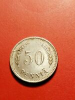 *Finland   50 penni 1945 Iron *Good condition 1+ *RARE*