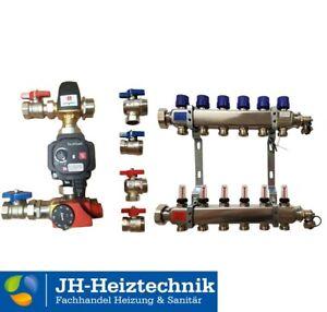 Edelstahl Heizkreisverteiler mit Durchflussanzeiger (DFA), Fussbodenheizung