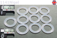 14mm OD  2.5mm CS O Rings Seal Silicone VMQ Sealing O-rings Washers
