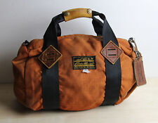 Vintage Distressed EDDIE BAUER Small Orange Nylon Duffle Gear Bag