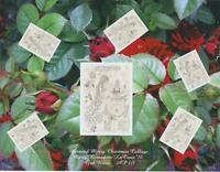 MERMAID FOLK ART RED ROSES CHRISTMAS COLLAGE ARTIST'S PROOF 1/1 ONLY ONE EXISTS