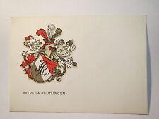 Reutlingen - Schweizer Verein Helvetia - Farbschild mit Zirkel / Studentika