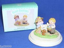 Hallmark Easter Merry Miniature Set Bashful Friends 1999 Girl Boy at Garden Gate