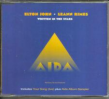ELTON JOHN LEANN RIMES Written in Stars w/ LIVE Your Song AIDA Sampler CD Single