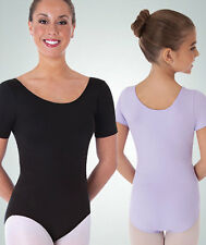 Body Wrappers BWP222 Black Women's XLarge (16) Short Sleeve Ballet Cut Leotard