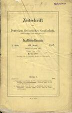Rivista della società tedesca geologiche 1 1917 TEKTONIK censure Riva