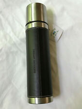 NEW LEHMAN BROTHERS Cutter & Buck Brown Leather 16oz.Thermos Travel Tumbler