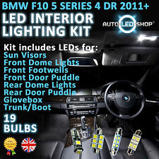 BMW 5 SERIES F10 2010> WHITE LED INTERIOR LIGHT SET BULBS XENON SMD CANBUS