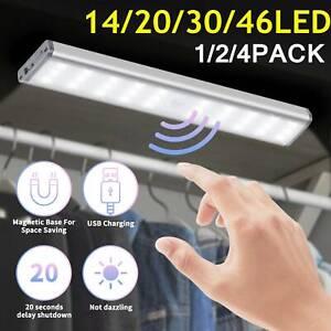 Lamp Wireless Rechargeable Cabinet LED Closet Light PIR Motion Sensor USB Strip