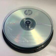 10-Pack 52X HP Logo CD-R Blank Recordable Disc Media 80Min Cake Box