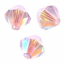 15 Perles Toupies 4mm Cristal Swarovski   ROSALINE AB2X