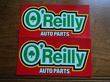 Lot of 2 O'REILLY auto parts NHRA drag racing decals stickers contingency size