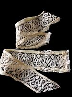 Antique Cantu Lace Samples Salvage Fragment Cutter Doll Costume Design #A