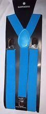 Unisex Men Women Teenager Kid French Blue Y-Back Adjustable Suspenders Combo-NEW