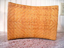 Antique Asian JAPANESE WOVEN BAMBOO PILLOW~REDUCED!!!