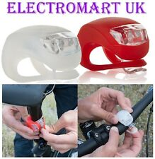 2 X LED SILICONE BICYCLE BIKE LIGHTS FRONT & REAR