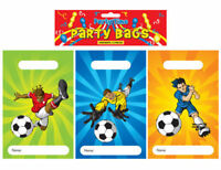 12 Football Empty Party Bags - Toy Loot Gift Wedding/Kids Plastic