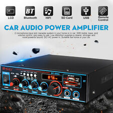 800W Digital bluetooth Stereo Amplifier Audio Tuner USB SD FM Aux Mic Car Home