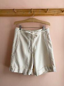 DRIES VAN NOTEN ivory twill cotton linen shorts pants trousers 40 la garconne