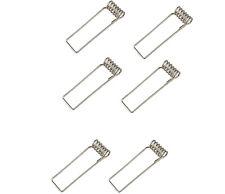 Pack of 6 GU10/MR16 Retaining Downlight Spring Clips (3 Pairs)