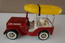 Vintage Tonka Life Guard Jeep w/ Raft #BL36 Pressed Steel Great Condition RARE