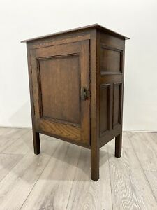 Deco Vintage OAK * 1 Door SIDE CABINET * 2 Shelves * Panelled Sides * Storage