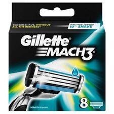 Gillette Mach3 Shaving Razor Blades - 8 Pack - 100% Genuine - FAST FREE POSTAGE