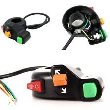 """3in1 Motorcycle ATV Bike Scooter 7/8"""" Switch Horn Turn Signals On/Off Light New"""