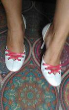 Scarpe bianche e rosa  tacco alto  usato  marca MAtricule 38