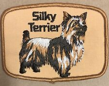 Silky Terrier Patch Embroidered dog breed vintage 4 inch hat jacket vest