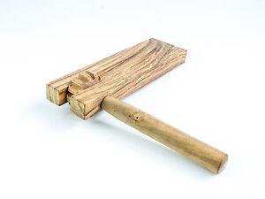Dannan Wooden Football Rattle Clacker Shaker