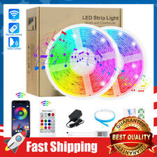 Strip Lights 32.8ft 300LEDs WiFi Waterproof Smart RGB Music Sync Color Changing