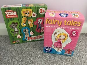 Childrens Puzzle bundle - Orchard Toys and Talking Tom and friends - 18 months +