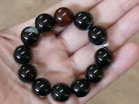 (eV1005) Tibet: Excellent  Quality Natural Agate  Beads   Bracelet Haqeeq