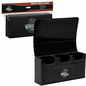 Protective Magnetic Triple Deck Holder Box For Mtg Magic Yugioh Pokemon Cards