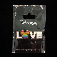 DLP Rainbow Love Mickey Mouse Ear Head Icon Gay Pride Stripes DLRP Disney Pin