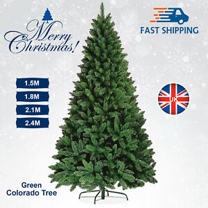4ft / 8ft Christmas Tree Colorado Green Pine Artificial Traditional Spruce Xmas