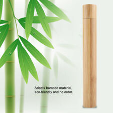 Portable Eco-friendly Natural Bamboo Toothbrush Case Tube for Travel Hand Made
