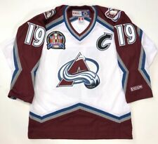 JOE SAKIC 1996 STANLEY CUP CCM NHL WHITE COLORADO AVALANCHE JERSEY MEDIUM
