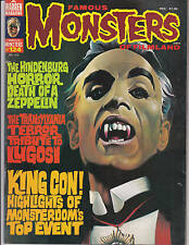 Famous Monsters Of Filmland 124 1976 Hindenburg Zeppelin King Con Frankenstein