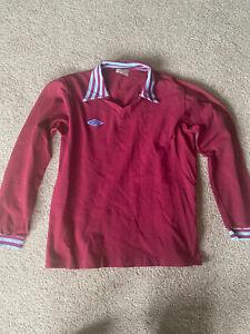 Vintage Umbro 1970s Long Sleeve Mens football shirt 102cm Aston Villa