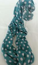 NEW 100% Cotton Snood mint Green with white dots. Soft, warm, fun, full-stop!!