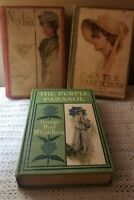 Nedra, The Purple Parasol & Castle Craneycrow book lot George Barr Mccutcheon
