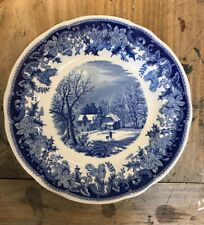 "Spode winters Eve blue salad plate (7 1/2"") s3755-83"