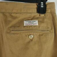 Polo Ralph Lauren Men's Size 32x30 Pleated Chino Pants Hammond Beige Tan Euc