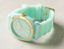 ANTHROPOLOGIE VISCID WATCH RUBBER JELLY BAND SKY MINT SEAFOAM NWT LOT