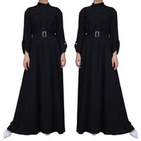 Islamic Women Muslim Shirt Dress Abaya Kaftan Cocktail Wedding Party Gowns Robe